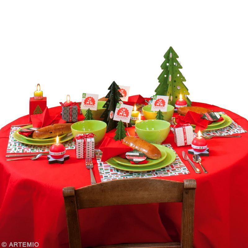 Décoration de table de Noël rouge et vert , Idées conseils