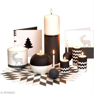 Bougies et set de table de Noël