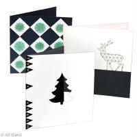 Modèles de cartes de Noël : Tendance géométrique
