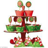 DIY Cupcakes de Noël : Plateau, caissettes et étiquettes