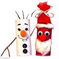 DIY Noël enfant spécial récup : Père Noël et bonhomme de neige