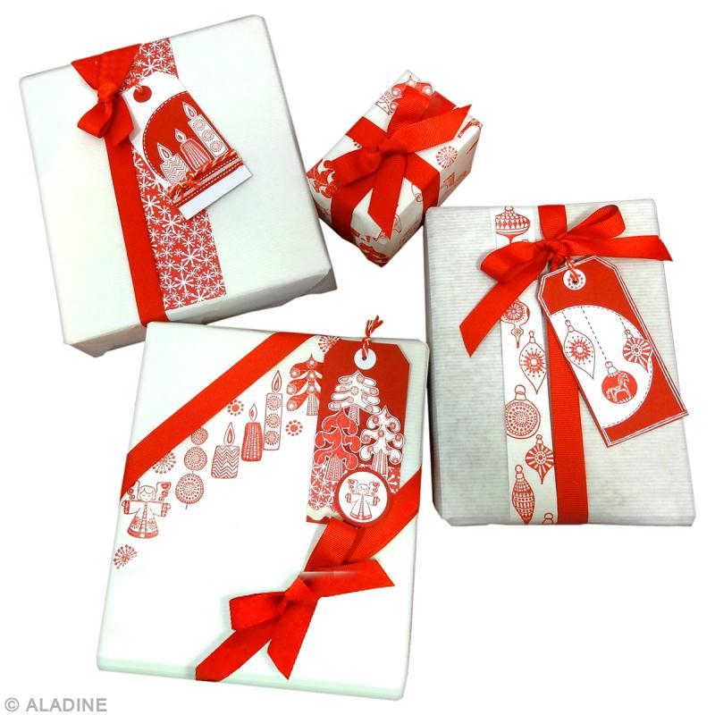 Emballage Cadeau De Noel Rouge Et Blanc Idees Conseils Et Tuto Paquet Cadeau