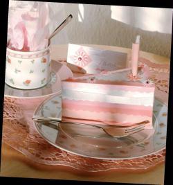6. La part de gâteau en papier réalisée