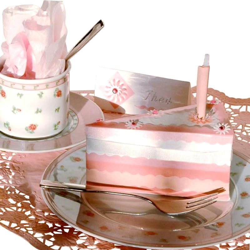 décoration de table : part de gâteau en papier - idées conseils et