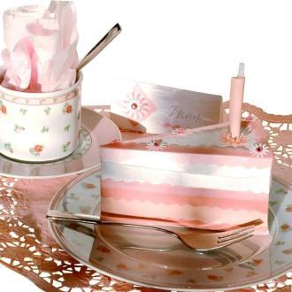 Décoration de table : Part de gâteau en papier