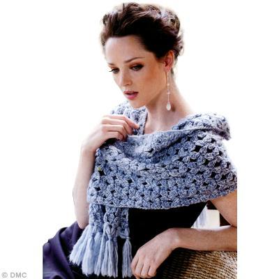 44726f94c03d Modèle écharpe au crochet à franges - Idées conseils et tuto Crochet ...