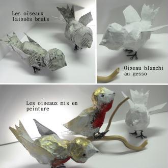 Bekannt Comment faire un oiseau en papier mâché (tuto) - Idées conseils et  YX65