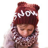 Modèle snood et bonnet garçon au crochet et tricot