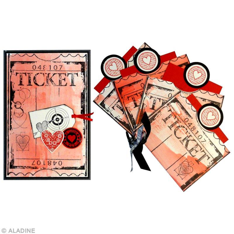 Carte de saint valentin fabriquer tickets d 39 amour - Carte st valentin a faire soi meme ...