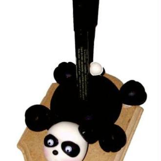 Porte crayon panda à réaliser en porcelaine froide à modeler