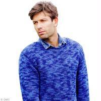 Modèle tricot pull homme en jersey