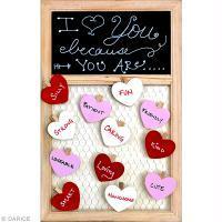 Idée cadeau DIY Saint Valentin : une ardoise à coeurs