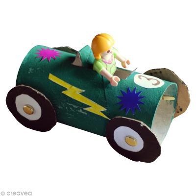 diy enfant r cup voiture de course avec rouleau en. Black Bedroom Furniture Sets. Home Design Ideas