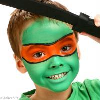 3. Maquillage tortue ninja Michelangelo terminé