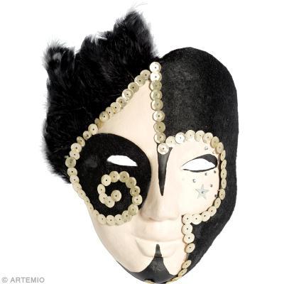 masque de carnaval fait maison pierrot id es conseils et tuto carnaval mardi gras. Black Bedroom Furniture Sets. Home Design Ideas
