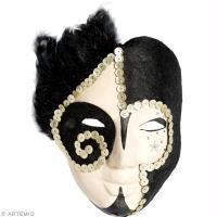 Masque de Carnaval fait maison : Pierrot