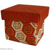 Boîte avec couvercle en origami (tuto facile)