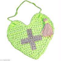 DIY Saint Valentin - Coeur au crochet (trapilho)