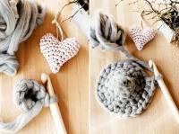 2. Crocheter le coeur en laine #2