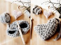 3. Crocheter le coeur en laine #3