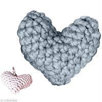 Tuto crochet - Coussin coeur en laine