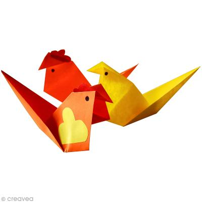 diy cocottes et poussins en origami id es conseils et tuto origami. Black Bedroom Furniture Sets. Home Design Ideas