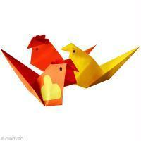 DIY cocottes et poussins en origami