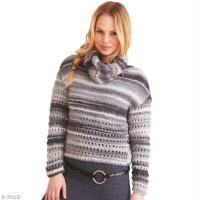 Modèle pull ajouré au tricot pour femme