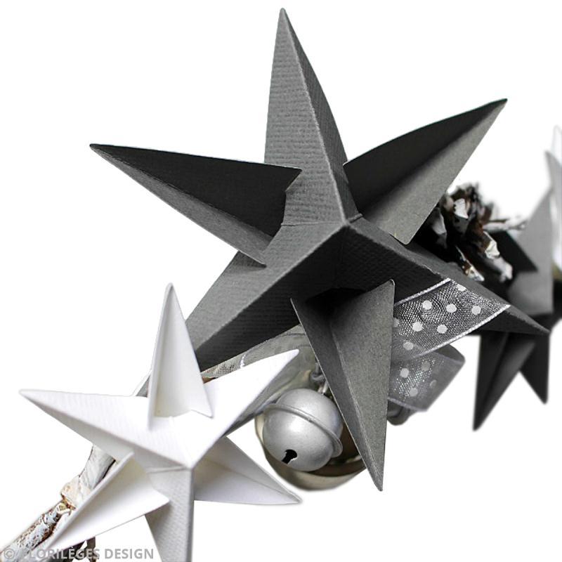 Faire une toile 3d en papier avec floril ges design - Fabriquer une etoile de noel ...