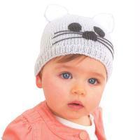 DIY tricot bonnet baby chat