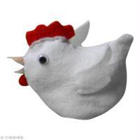 Petite poule en feutrine
