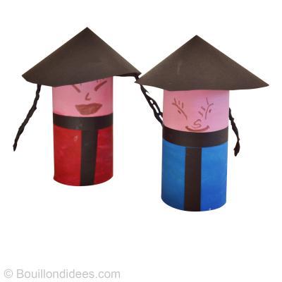 diy r cup facile poup e chinoise id es conseils et tuto activit manuelle enfant. Black Bedroom Furniture Sets. Home Design Ideas