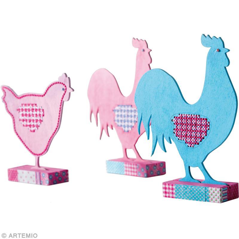 Bricolage poule et coq de p ques brod s id es conseils et tuto p ques - Comment faire une poule en papier ...