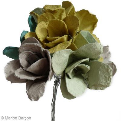 Bouquet De Fleurs Recup En Boite A Oeufs Idees Conseils Et Tuto