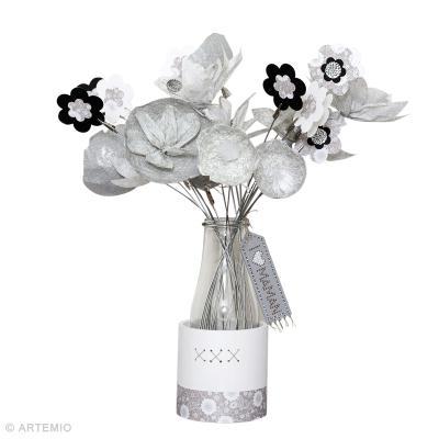 diy bouquet de fleurs en papier et artepatch id es conseils et tuto f te des m res. Black Bedroom Furniture Sets. Home Design Ideas