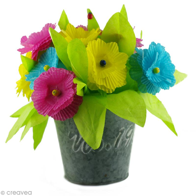 bricolage de f te des m res un bouquet de fleurs pour maman id es conseils et tuto activit. Black Bedroom Furniture Sets. Home Design Ideas