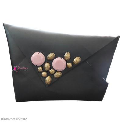 Pochette origami & perles à coudre