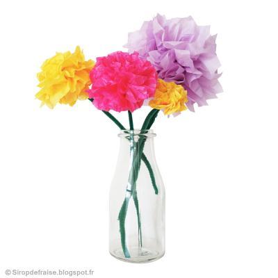 diy f te des m res bouquet de fleurs en papier de soie id es conseils et tuto d coration. Black Bedroom Furniture Sets. Home Design Ideas