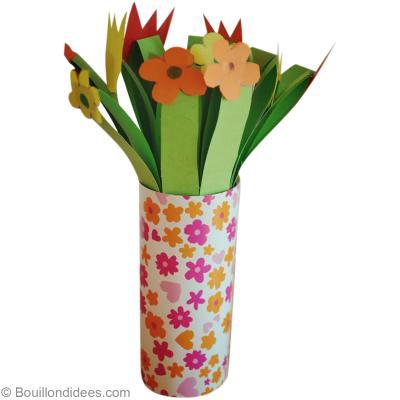 activit manuelle de f te des m res bouquet de fleurs en papier id es conseils et tuto. Black Bedroom Furniture Sets. Home Design Ideas