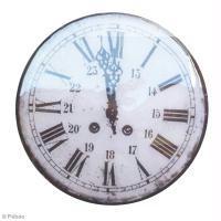 Tuto tableau horloge déco vintage