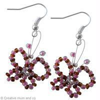Tuto : boucles d'oreilles papillon en perles de rocaille