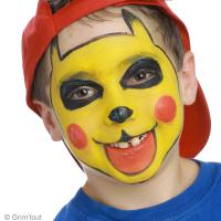 3. Finitions du maquillage Pikachu enfant