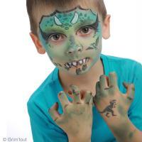 4. Etape 3 : Embellir le grimage dinosaure