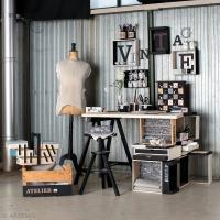 Décoration atelier de couture vintage