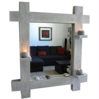 miroir photophore en carton id es conseils et tuto meuble en carton. Black Bedroom Furniture Sets. Home Design Ideas