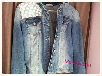 diy customiser une veste en jeans id es conseils et tuto customisation. Black Bedroom Furniture Sets. Home Design Ideas
