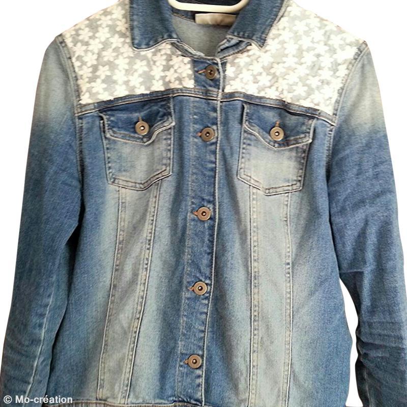 Diy customiser une veste en jeans id es conseils et tuto customisation - Customiser une cagette ...