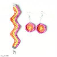 DIY Bracelet à chevrons au crochet