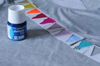 7. Peindre avec de la peinture spéciale tissu