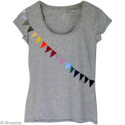 Custo de t-shirt fanions